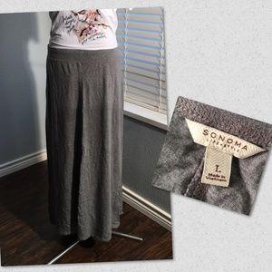Gray Maxi Skirt